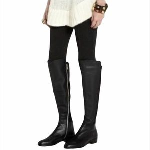 Michael Kors Bromley Flat Leather Riding Boots NWT